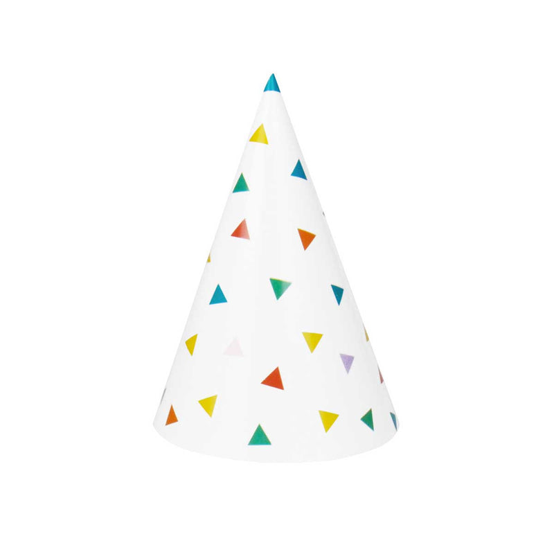 Bright Triangle Party Hats