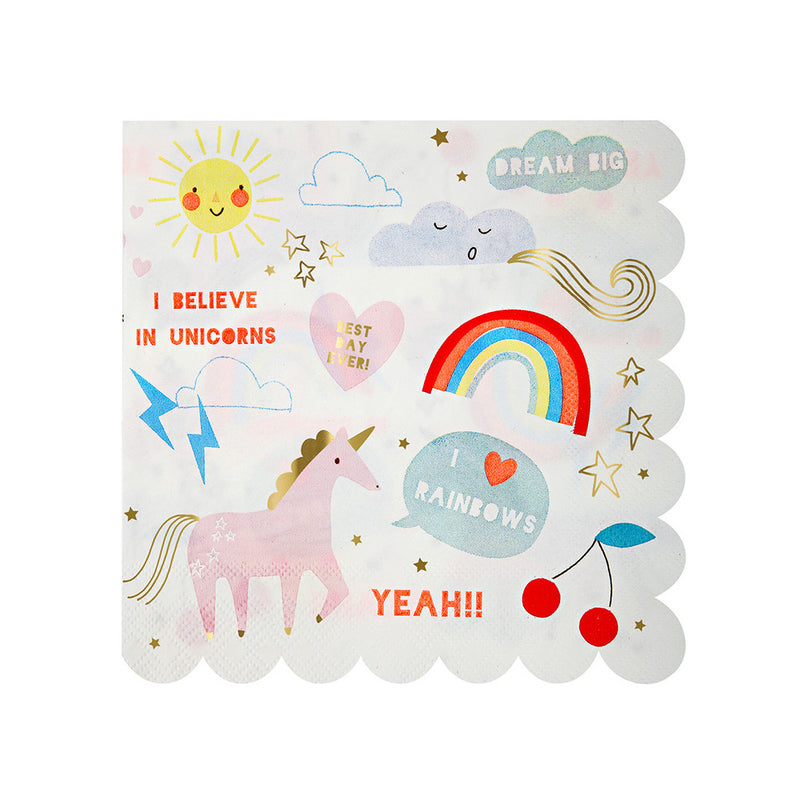 Unicorn and Rainbow Napkins
