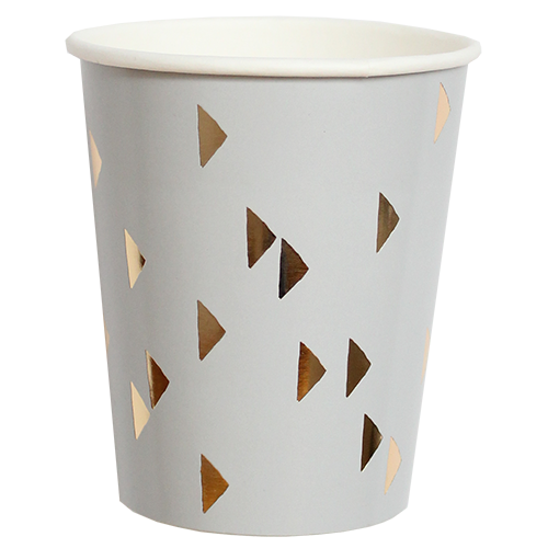 "Gray and Gold ""Wander"" Cups"