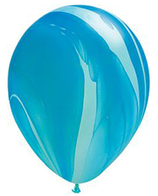 Blue Marble Latex Balloons - 11""