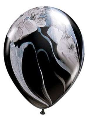 Black and White Marble Latex Balloons - 11""
