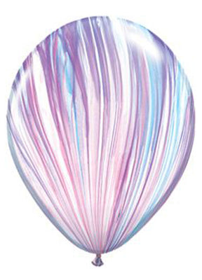Multicolored Marble Latex Balloons - 11""