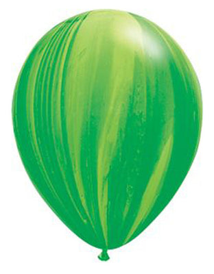 Green Marble Latex Balloons - 11""