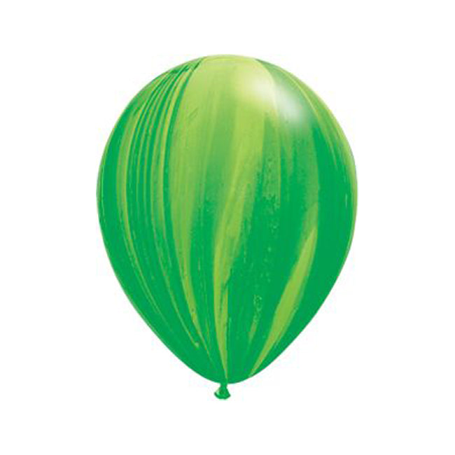 Marble Latex Balloon Set in Rainbow Colors - 11""