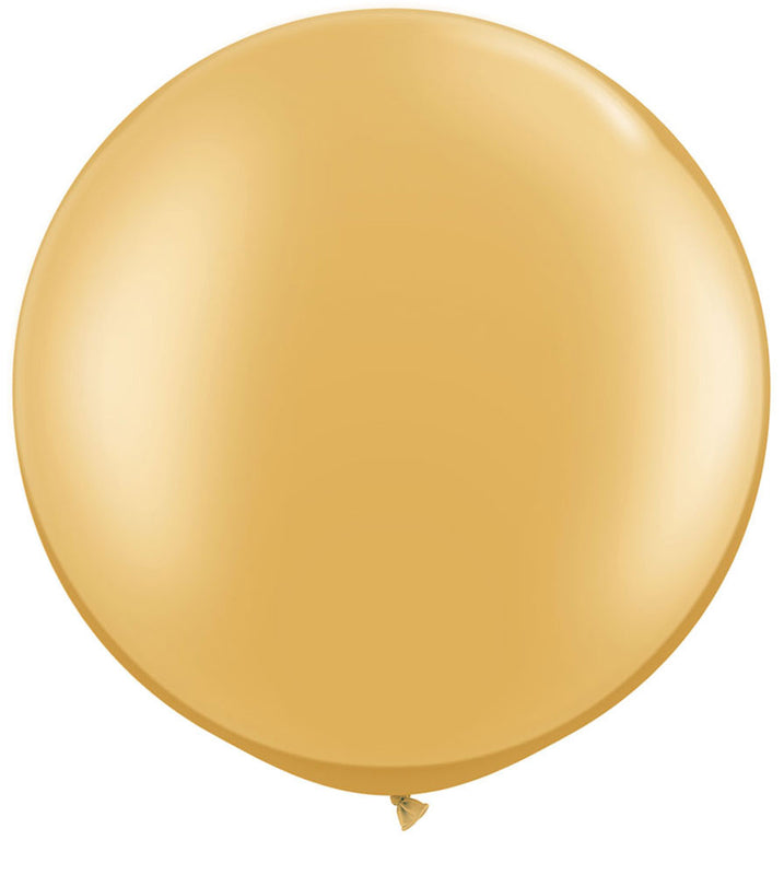 Gold Jumbo Latex Balloon - 30""
