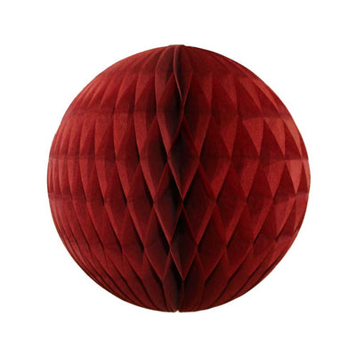 Burgundy Honeycomb Ball - 8""