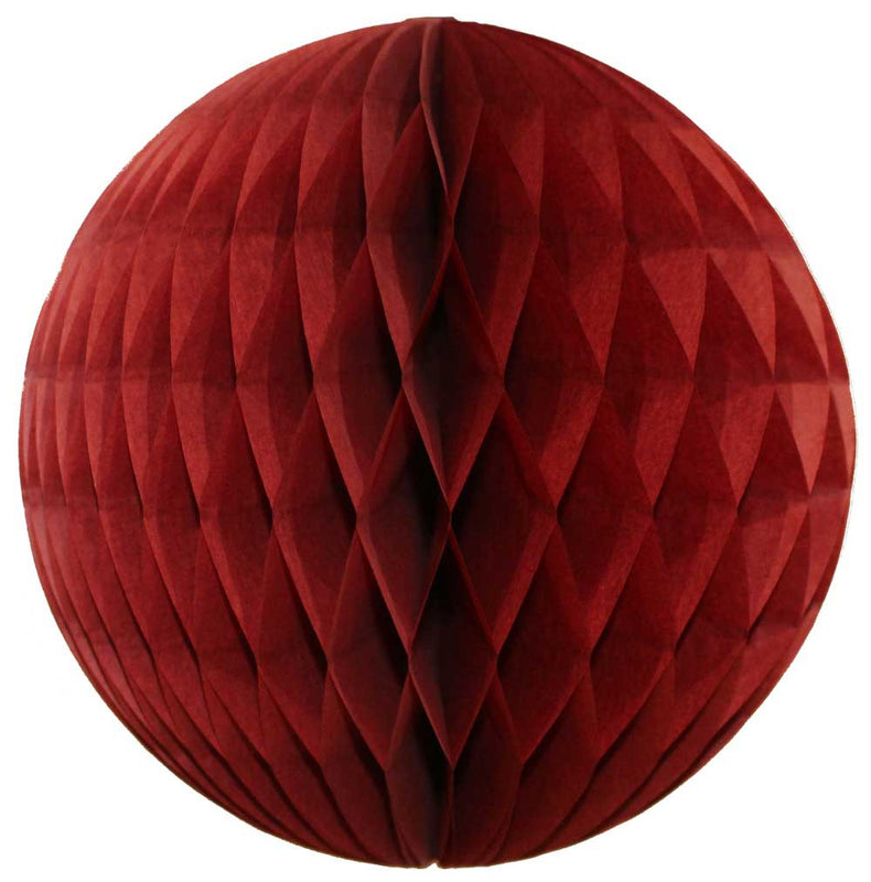 Burgundy Honeycomb Ball - 12""