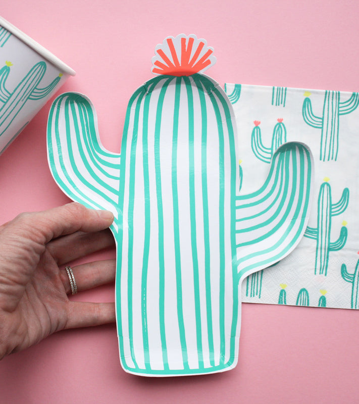 Blooming Cactus Plates - Small