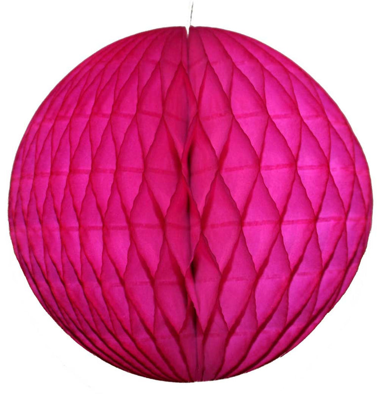Fuchsia Honeycomb Ball - 12""
