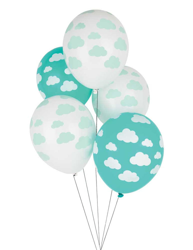 Cloud Print Latex Balloons - 11""