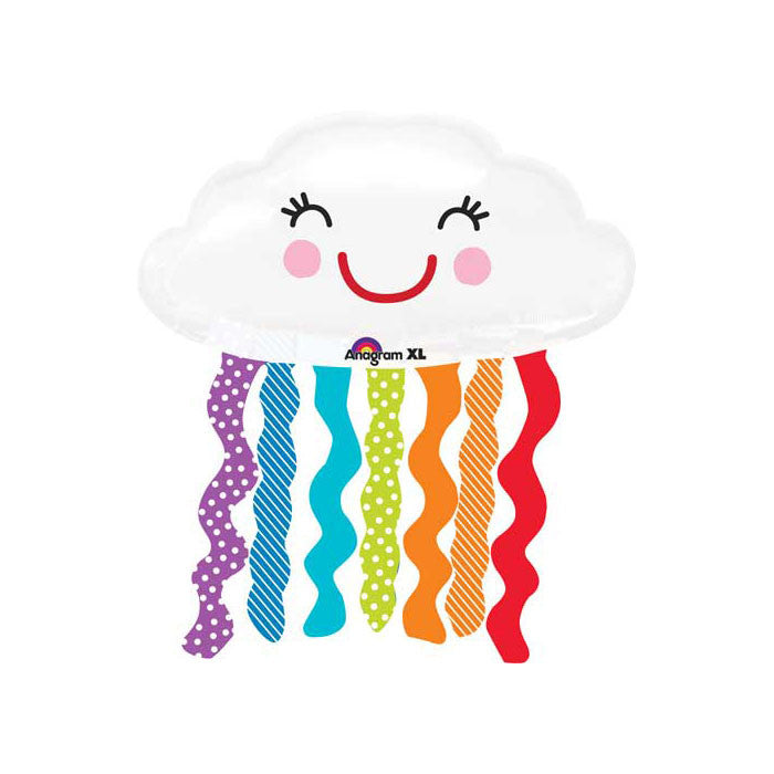 Cloud and Rainbow Balloon - Mylar