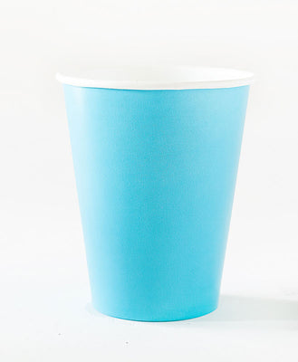 Turquoise Blue Paper Cups