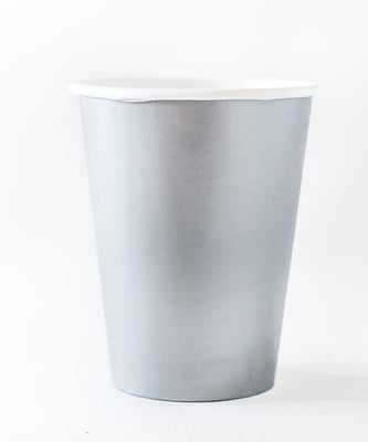 Shimmering Silver Paper Cups