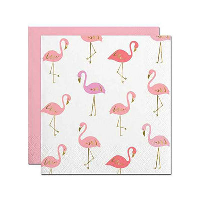Pink Flamingo Napkins - Small