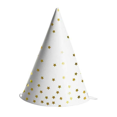 Gold Star Party Hats