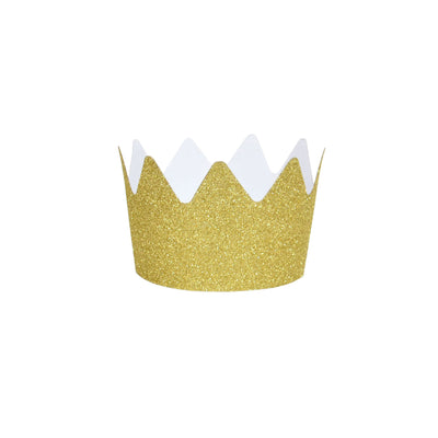 Gold Glitter Crowns - Small