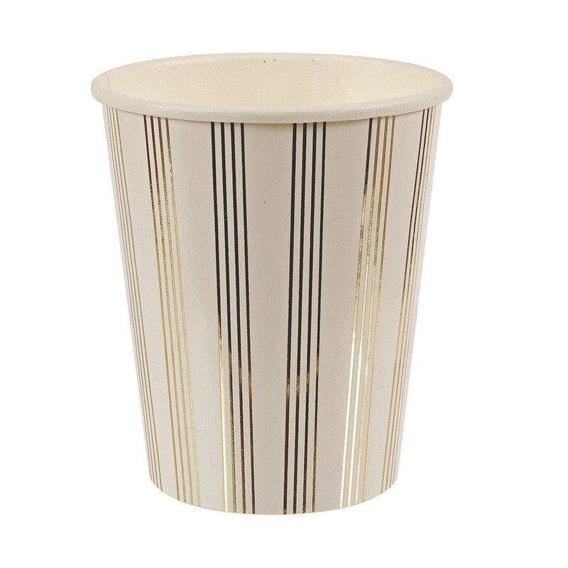 SALE: Gold Foil Striped Party Cups
