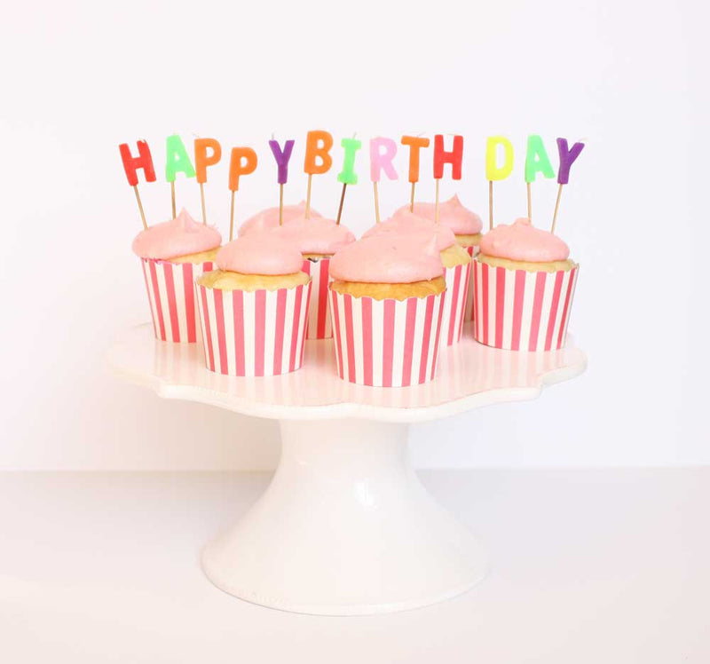 Happy Birthday Letter Candles