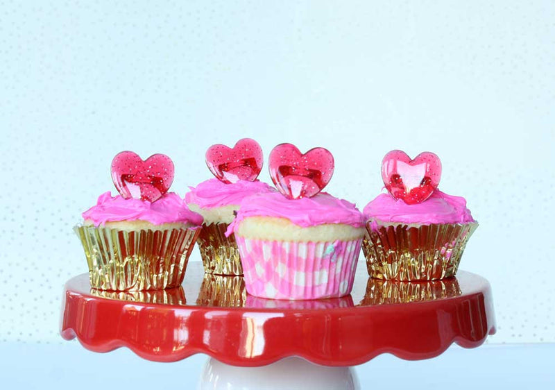 SALE: Heart Ring Party Favors or Cupcake Toppers