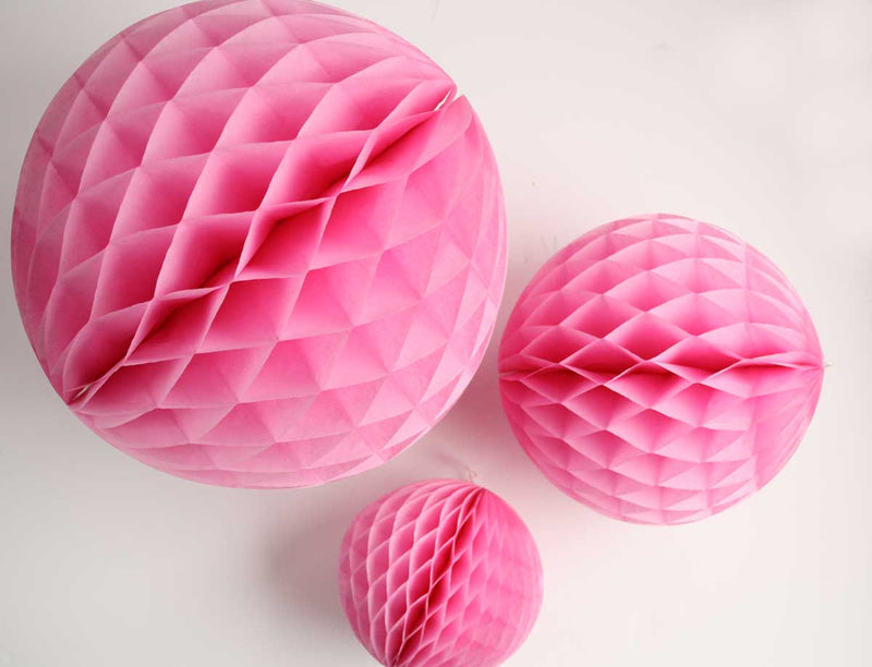 Pink Honeycomb Ball - 8""