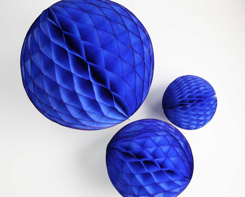 Blue Honeycomb Ball - 12""