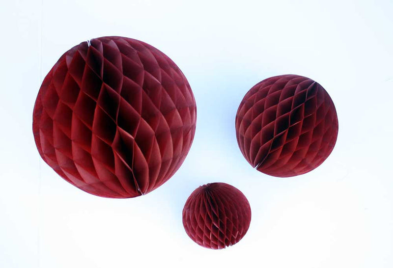 Burgundy Honeycomb Ball - 5""