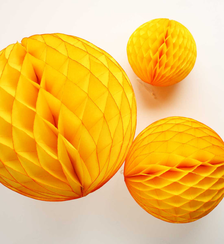 Golden Yellow Honeycomb Ball - 12""