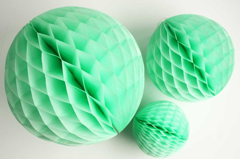 Mint Green Honeycomb Ball - 8""