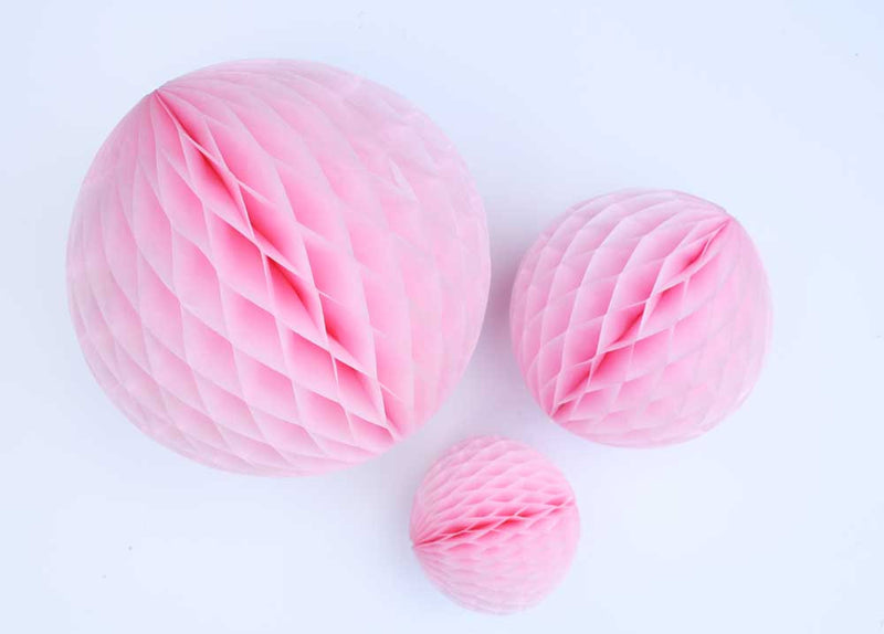 Light Pink Honeycomb Ball - 8""