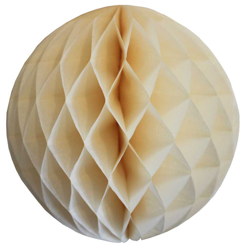 Ivory Honeycomb Ball - 12""