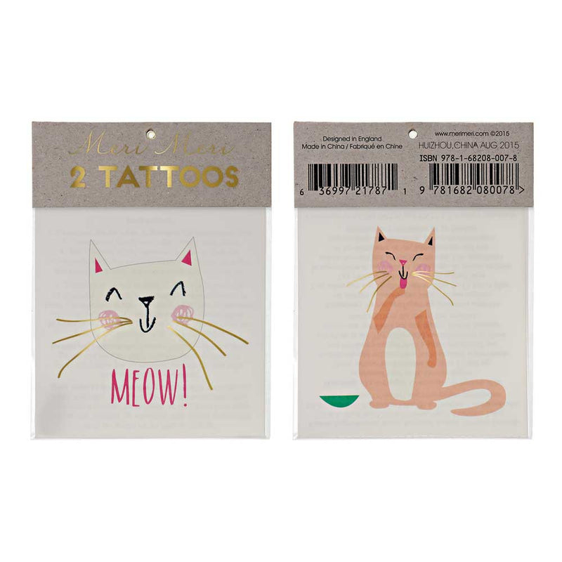 SALE: Kitty Cat Temporary Tattoos