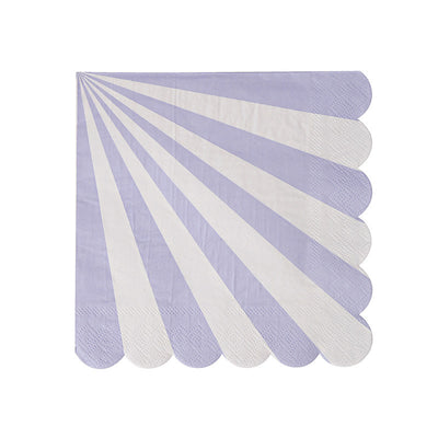 Lavender and White Striped Napkins - Small
