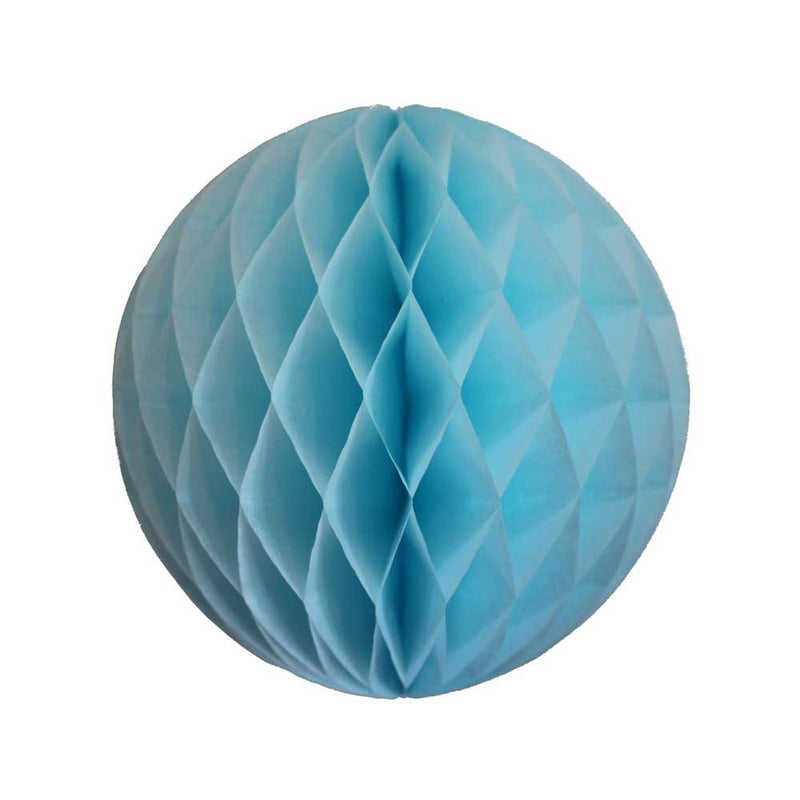 Light Blue Honeycomb Ball - 8""