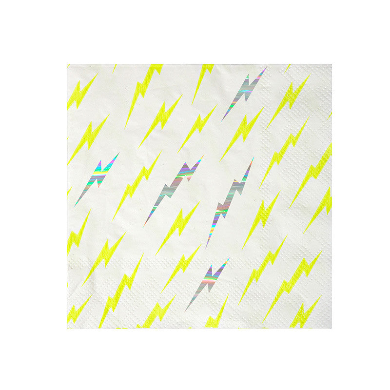 Lightning Bolt Napkins - Small