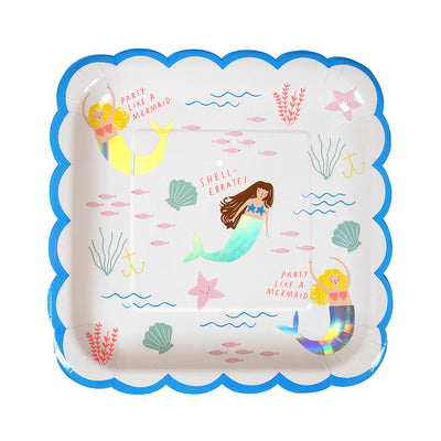 Mermaid Paper Plates