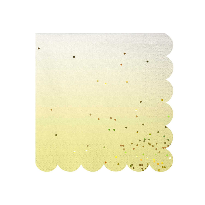 Pastel and Gold Confetti Napkins - Small
