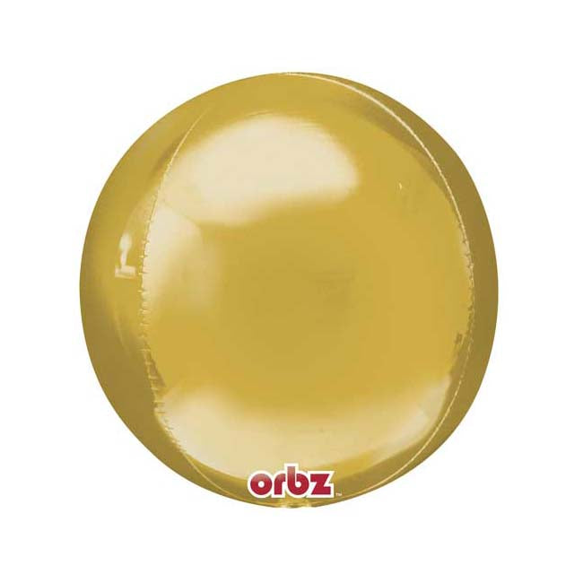 Gold Orbz Balloon - Mylar