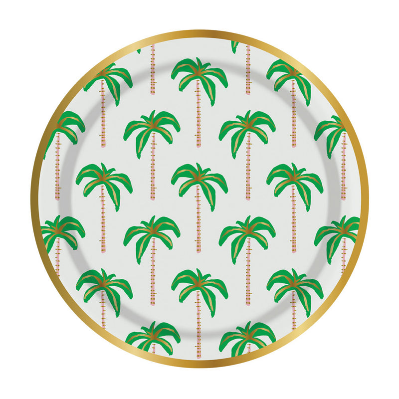 Palm Tree Paper Plates - Small
