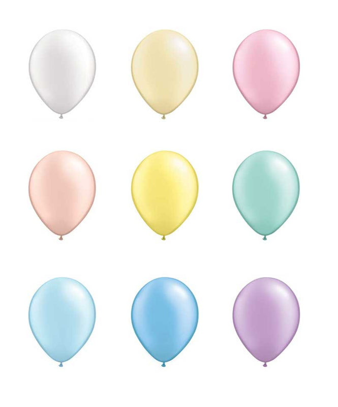 Pastel Balloon Set - Latex - 11""