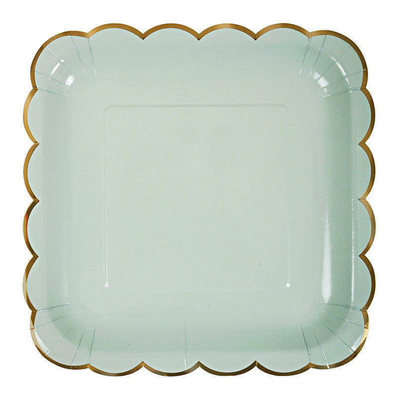 Pastel and Gold Plates