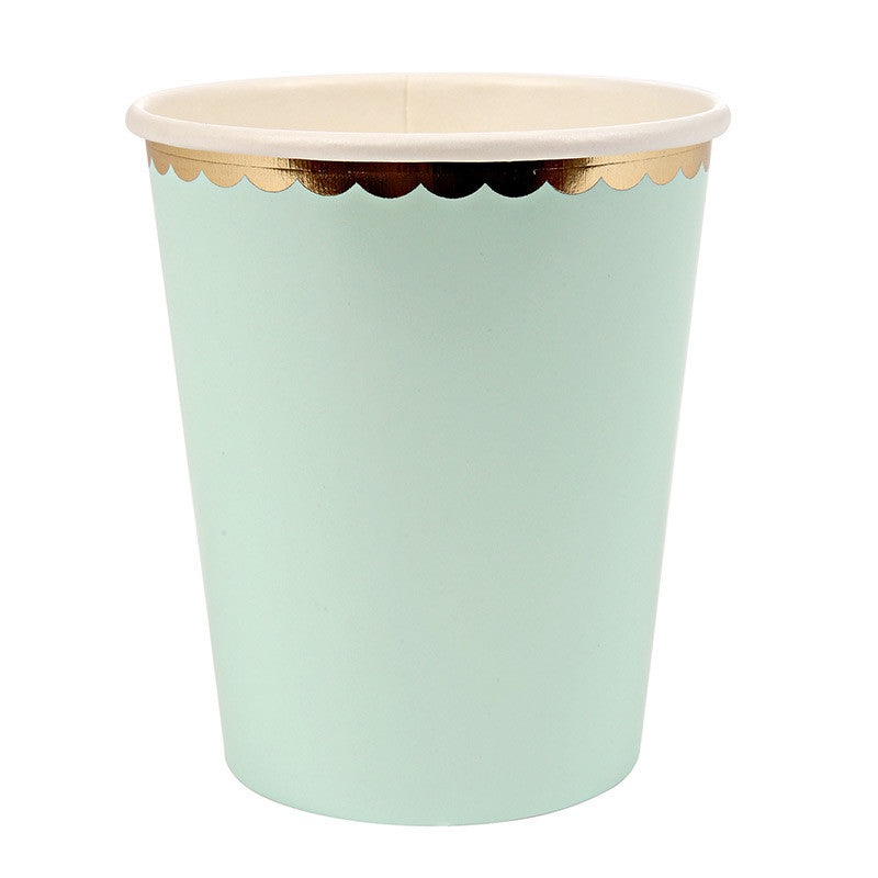 Pastel and Gold Party Cups