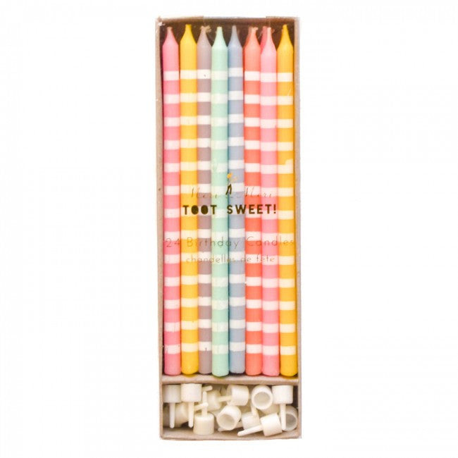 Toot Sweet Pastel Birthday Candles