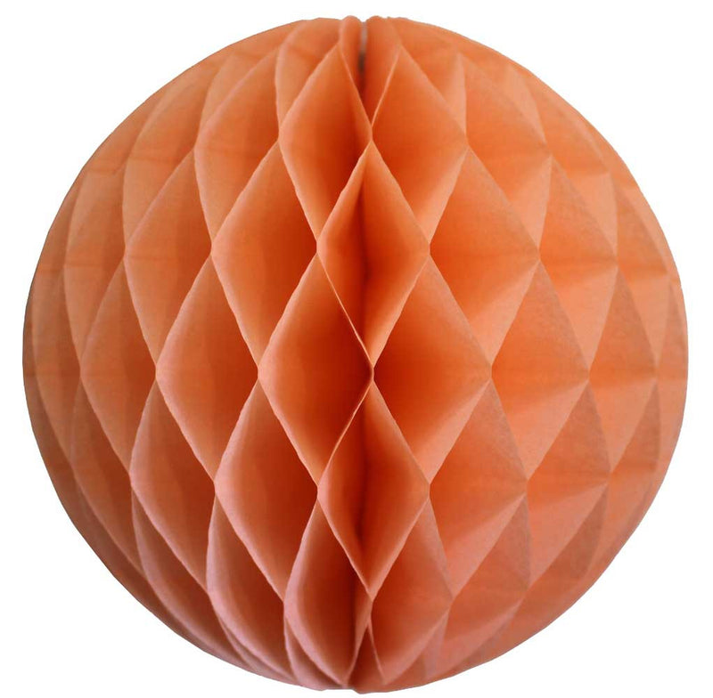 Peach Honeycomb Ball - 12""