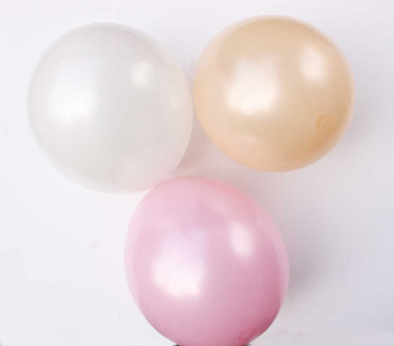 Pastel Pearl Peach Latex Balloons - 11""