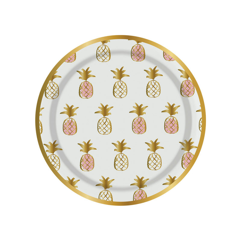 Pineapple Print Paper Plates - Small