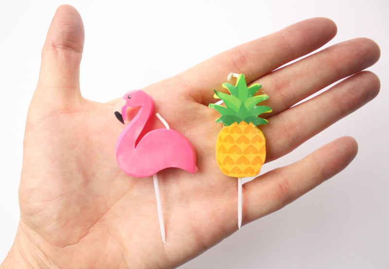 Flamingo and Pineapple Candles - Small