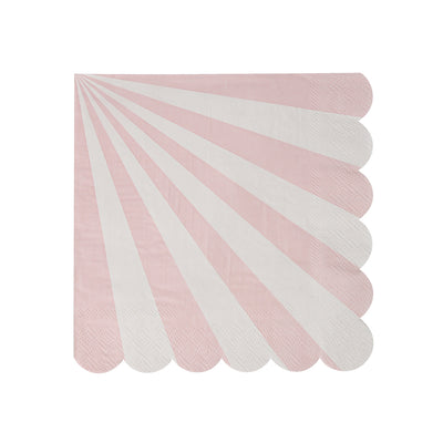 Light Pink and White Napkins - Small