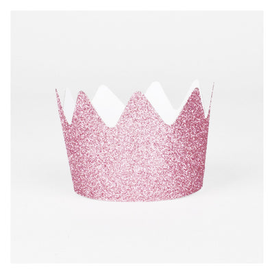 Pink Glitter Crowns - Small