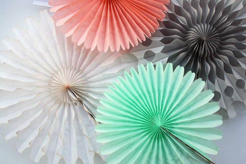 Gray Pinwheel Fan - 18""