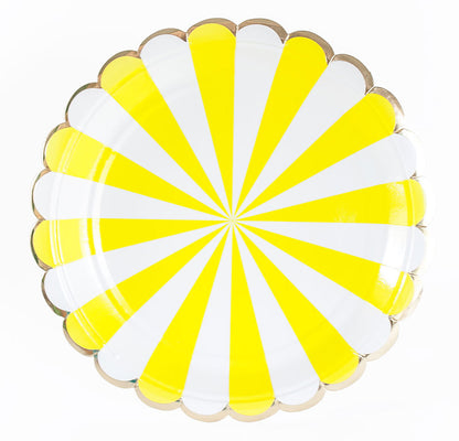 Yellow, White, and Gold Plates - Small